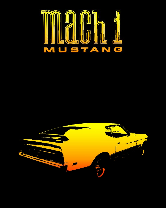 Poster coche Ford Mustang Mach 1