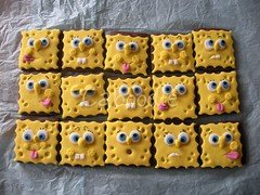 swiss cheese square pants (The Whole Cake and Caboodle ( lisa )) Tags: newzealand face cookies cheese kid cookie faces spongebob spongebobsquarepants whangarei caboodle partyfavour spongebobnopants thewholecakeandcaboodle