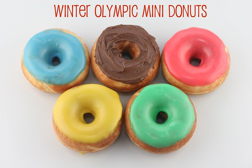 Mini Olympic Donuts