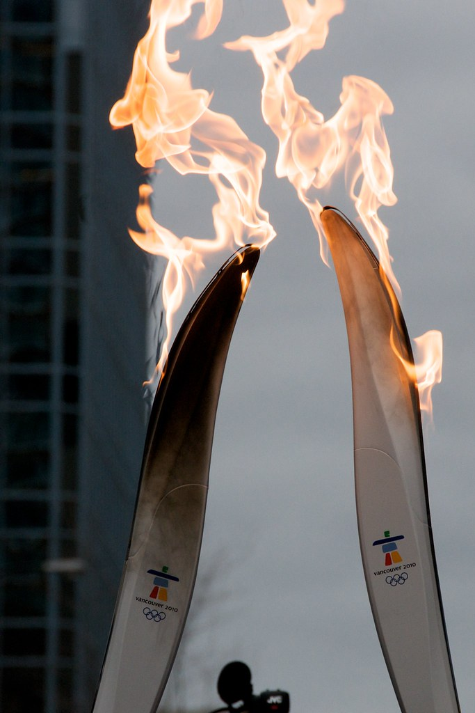 Closeup of Olympic Torch