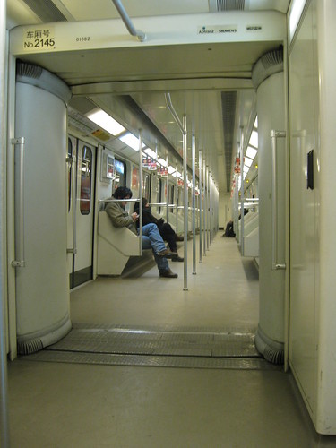 New Years Eve and the Shanghai Metro is nearly empty!