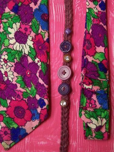 Wardrobe Remix: vintage tie headband + crochet hairband