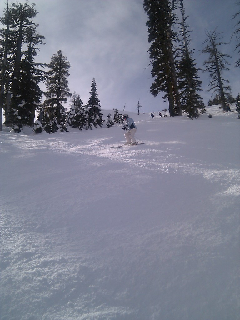 Jodi Ripping Nancy's Couloir at Sugarbowl
