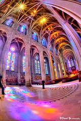 Colorful Grace Cathedral church interior