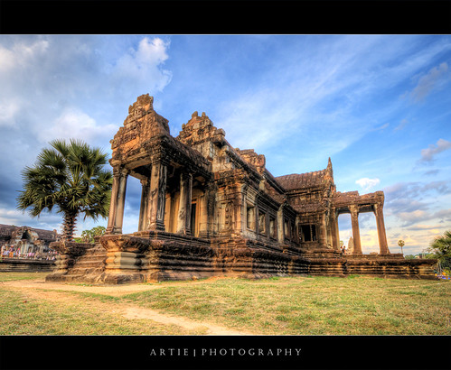The Library of Angkor Wat, Siem Reap, Cambodia :: HDR