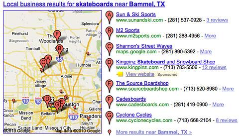 Google Sponsored Local Result