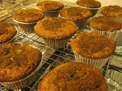 muffins de pêra e gengibre