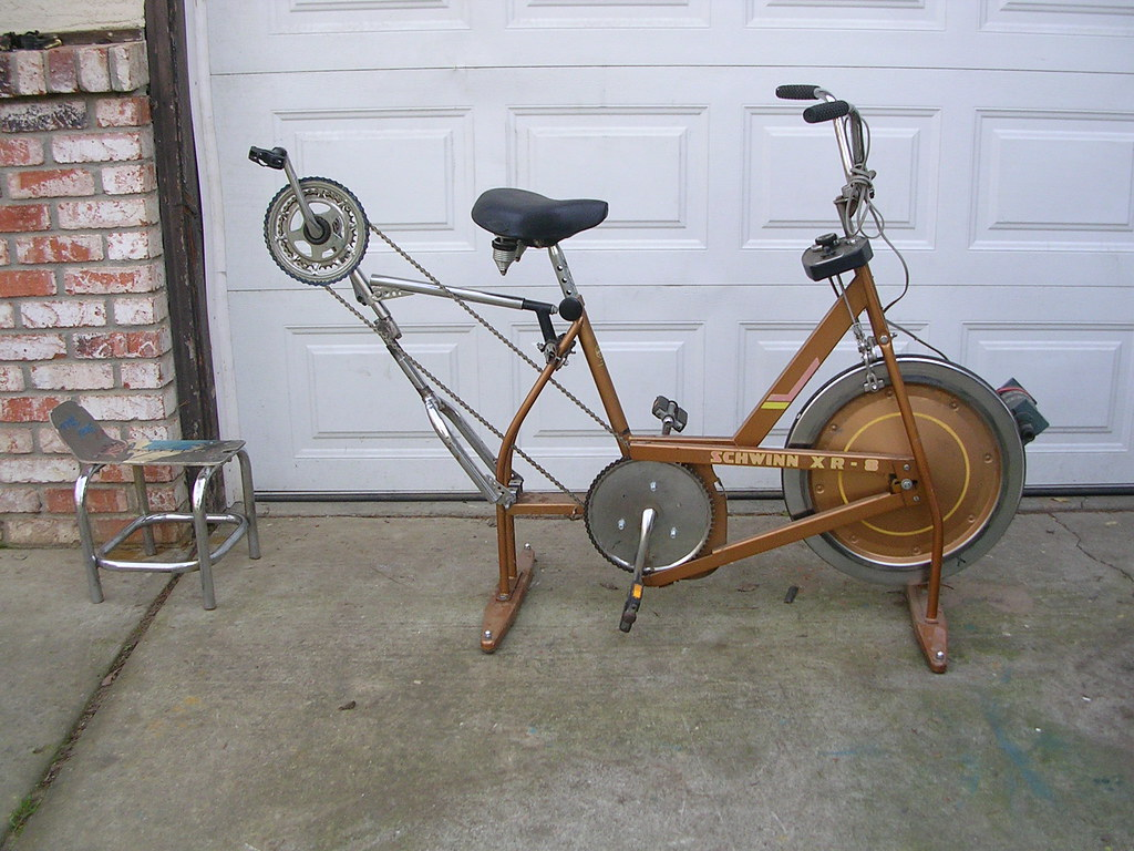 Tandem Schwinn Exerciser Generator...Foot  AND Hand powered!