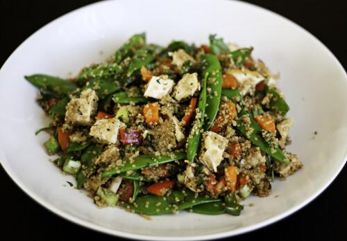Quinoa Stir-Fry with Vegetables & Chicken