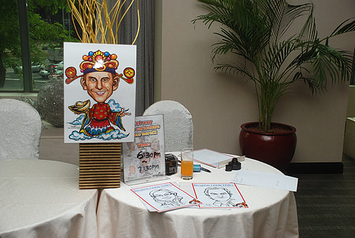 Caricature live sketching for Informa Group -3