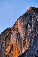 Yosemite_Firefall_CU #1 (YOSEMITEDONN) Tags: park trees sunset portrait mountains color that landscape gold waterfall shot know x falls national yosemite format did horsetail firefall in i