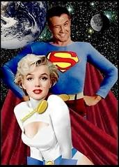 George Reeves as Superman...and Marilyn Monroe as Power Girl ?!? (DarkJediKnight) Tags: marilynmonroe humor superman dccomics superheroes powergirl georgereeves