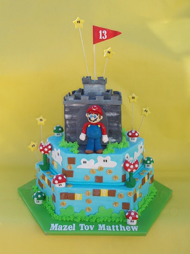 Super Mario Bar Mitzvah Cake