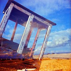 Through (AndyWilson) Tags: 120 film beach mediumformat boat diy xpro double dungeness zeissikon provia folder adc 400asa nettar diyc41 nettax dungenessfeb10