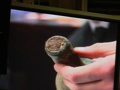 Lampolla presenta clarament restes de vi resecades