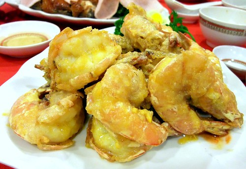 Stir-Fry Prawns with Salted Egg Yolk
