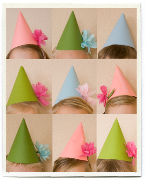 DIY kids party hats