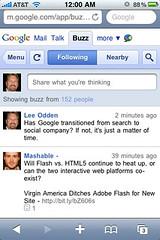 Google Buzz iPhone App