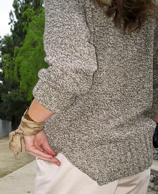 sweater and khakis