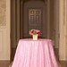 Pink Pintuck tablecloth