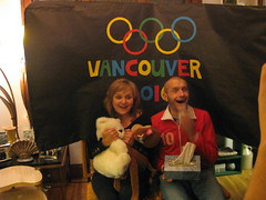 02.18.10 Barbara and Greg Kiss and Cry (Leopard Girl) Tags: vancouver olympics 2010 kissandcry 021810