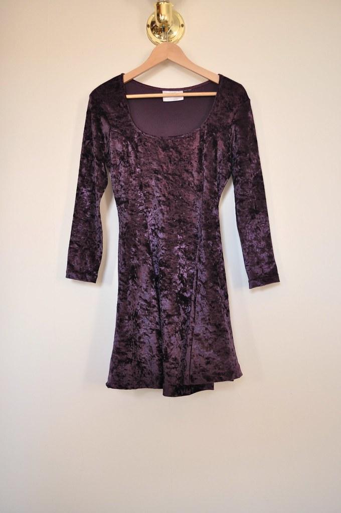 vintage velvet mini dress