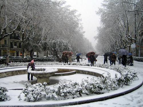 Passeig Sant Joan nevado