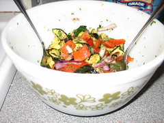 Grilled Salad (vonlipi's favorites) Tags: salad bowl 402 pyrexinaction springflowergreen
