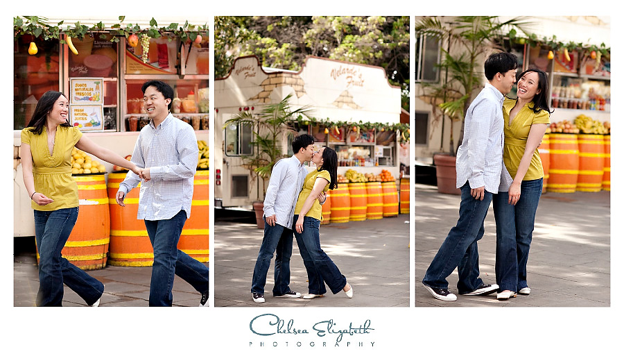 Orange stand olivera street los angeles engagement
