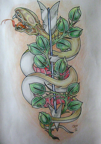 snake tattoo flash by cláudia f. by: cláudia f. Anyone can see this photo
