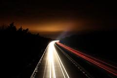 hurry up (donchris!) Tags: night germany deutschland lights highway long exposure nightshot nacht autobahn autopista sachsen anhalt alemania nights autoroute allemagne germania dessau nachts autostrada sachsenanhalt niemcy dessauroslau roslau