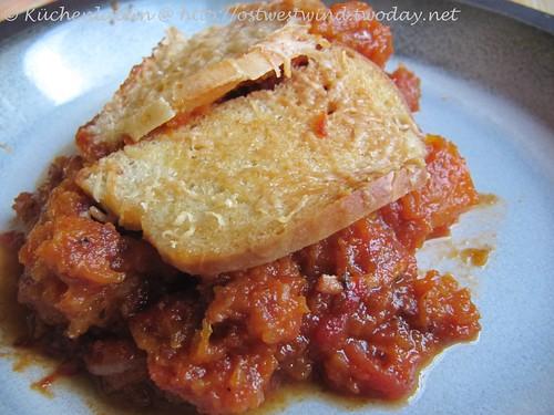 Italienischer Hähnchen & Birnenkürbis Pie 001