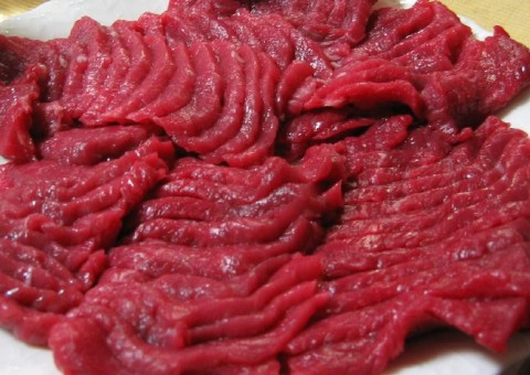 Basashi (Raw Horse Meat Sashimi) - Weird Japanese Food - A Top 10 List of Strange Foods from Japan