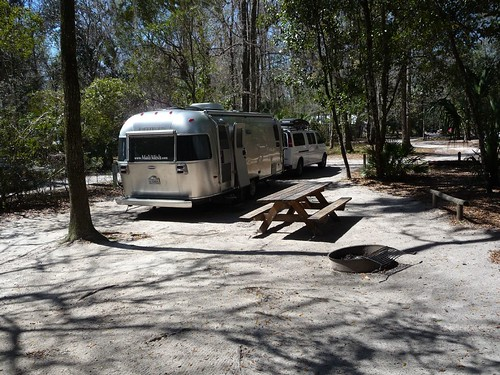 beautiful campsite at manatee springs.