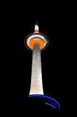 Kyoto Tower (Sprengben [why not get a friend]) Tags: city wedding summer sky urban music tower art japan clouds skyscraper observation japanese tokyo bay harbor amazing nikon kyoto shinjuku asia waves ship artistic gorgeous awesome watch elevator style divine international stunning tokyotower osaka metropolis roppongi odaiba yokohama charming foreign fabulous gundam hdr shushi rainbowbridge hiyoshi niijima engaging travelphotography d90 keiouniversity photomatix shibuja travellight d3s sprengben nationalgovernmentbuilding wwwflickrcomphotossprengben fatherofshushi