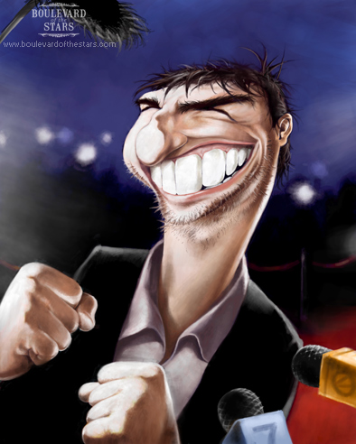 Tom Cruise Caricature