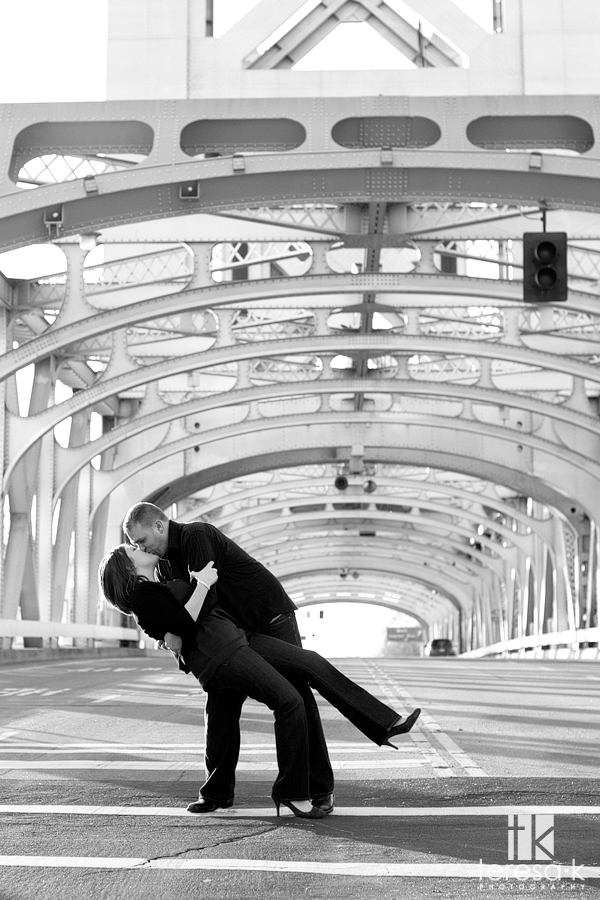 Sacramento Bridge Engagement Shoot, Old Town Sacramento Engagement Shoot with Brittany and Shaun by Sacramento Engagement Photographer Teresa Klostermann of Teresa K photography