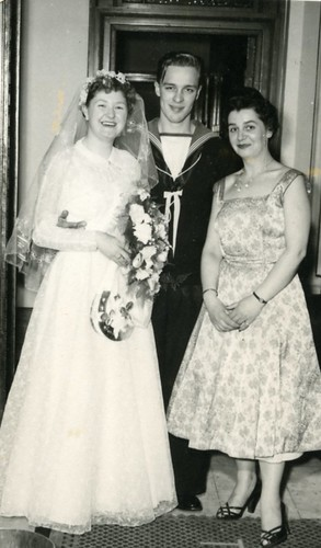 Margaret Nevitt And Bob McPhee, wedding in C'Adorra 1956