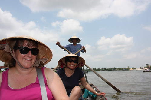 Mel, Hema and our boat rower
