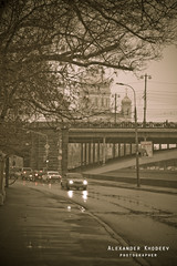 bridge (Hoshan) Tags: morning cars architecture russia moscow brigde