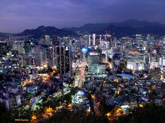 A Phoenix Arises; Seoul Namsan Night (karl.wolfgang (Cambodia mission complete)) Tags: city night seoul asiabynight earthasia