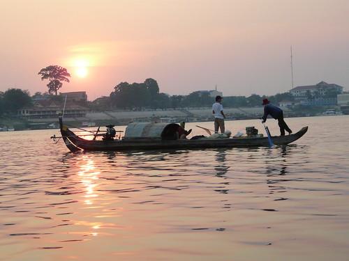 Atardece en el Mekong