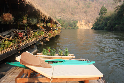 Sunbaking deck at the River Kwai Jungle Rafts