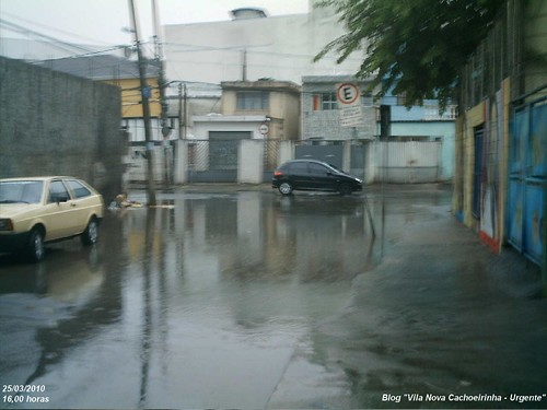 Ponto de alagamento na Vila Nova Cachoeirinha