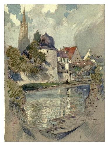 015-Thann- el rio Thur-Alsace-Lorraine-1918- Edwards George Wharton
