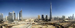 TRUCKING IN DUBAI (Claude  BARUTEL) Tags: panorama dubai united panoramic emirates khalifa arab burj