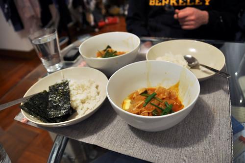 Kimchi jigae!