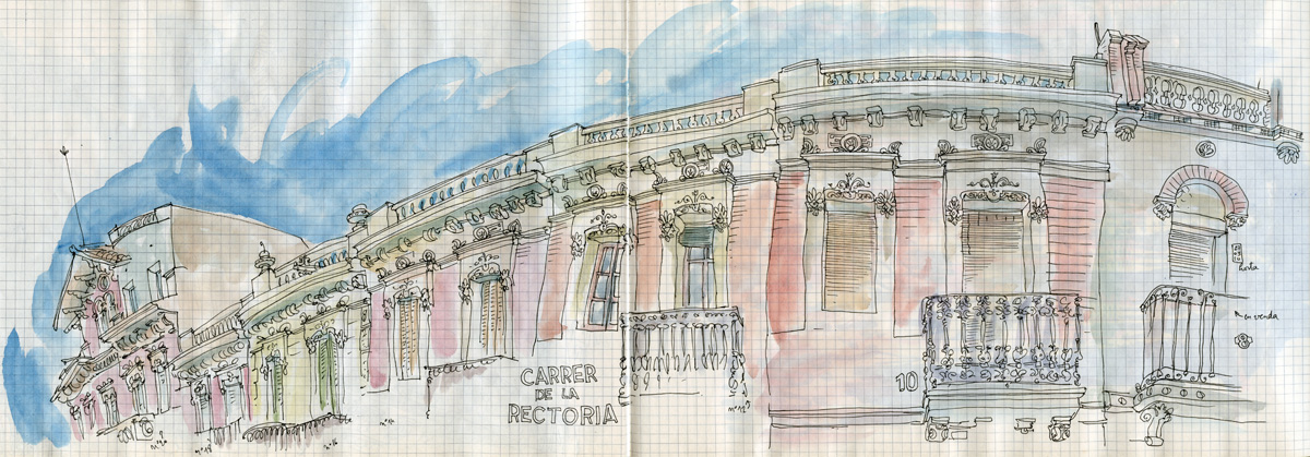 sketching day in horta