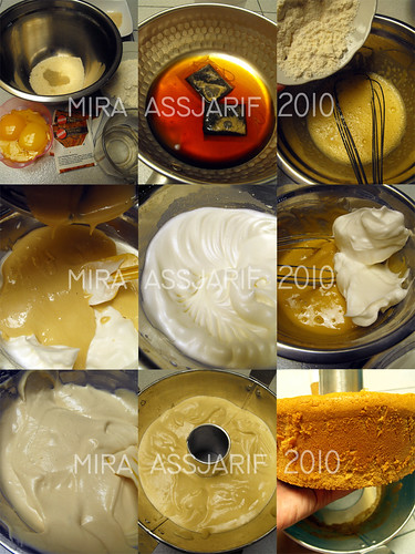 Step by step making Tea Chifon