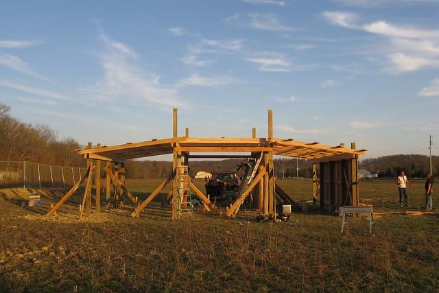 Pole barn, day 4